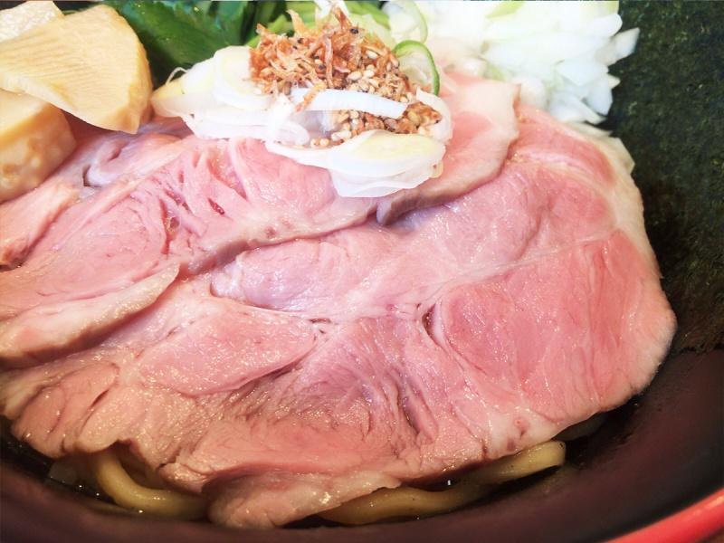 かいじ東仙台和田の和風煮干まぜそばチャーシュー