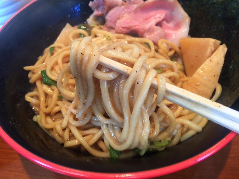かいじ東仙台和田の和風煮干まぜそば麺