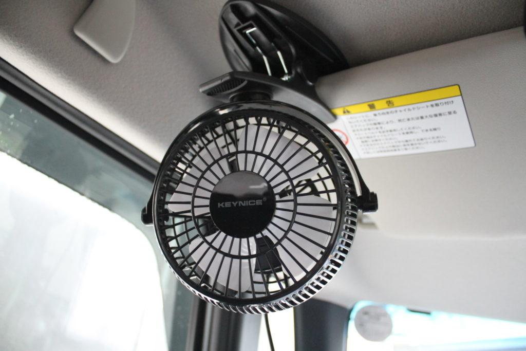 KEYNICE車載用扇風機本体