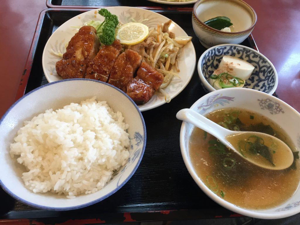 山形北京料理竜馬ロース焼定食